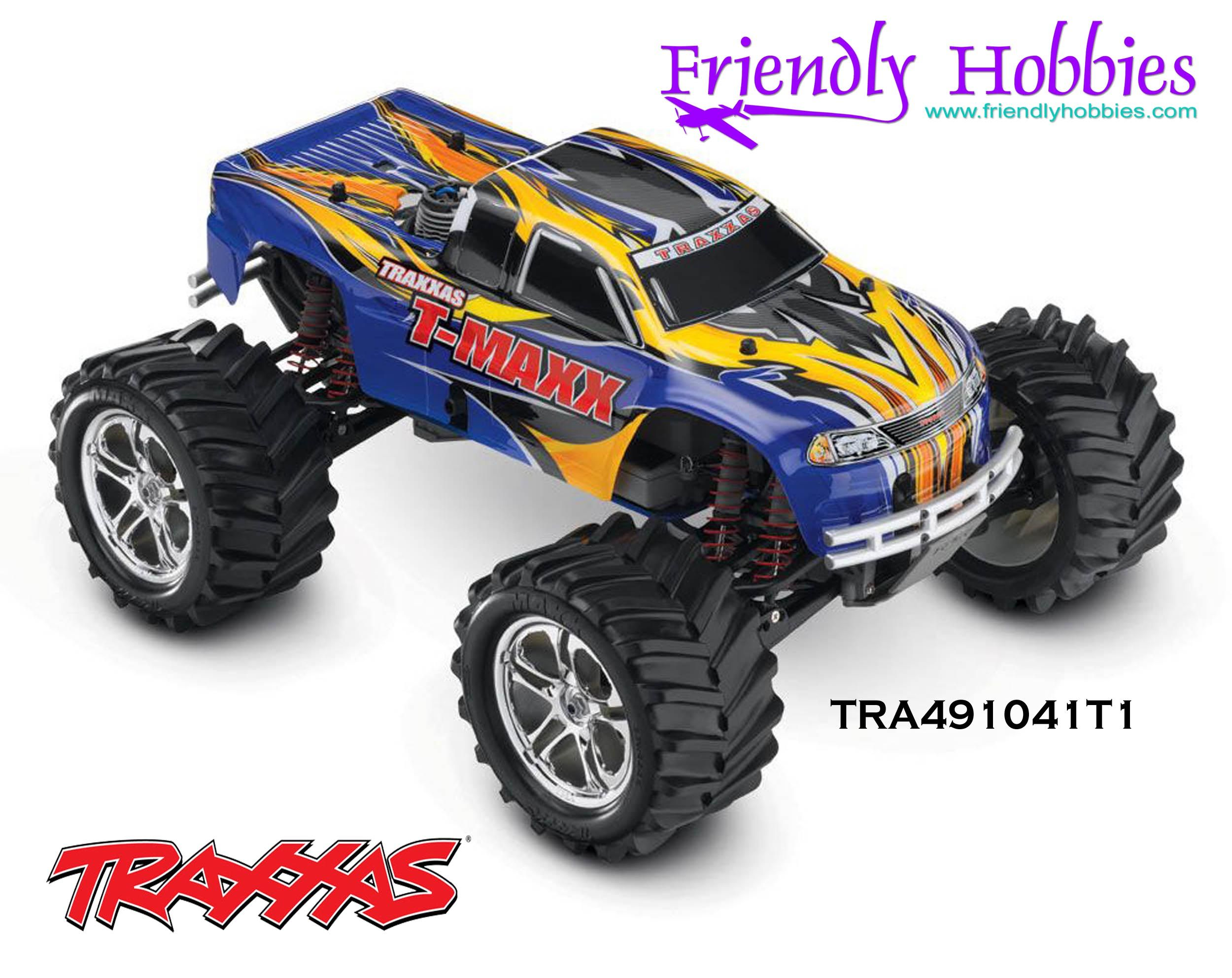 Traxxas 1 10 t maxx 4wd nitro monster truck blue black red