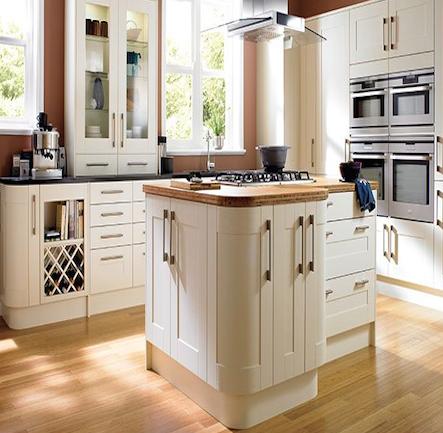 Wickes Tiverton Bone Shaker Kitchen. Kitchen-compare.com - Home ...