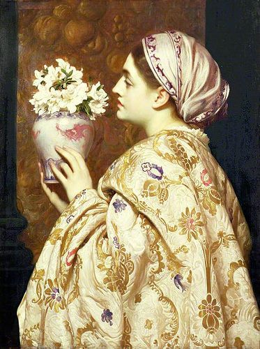 frederic lord leighton a noble lady of venice day pages ラファエル前派 絵 イラスト