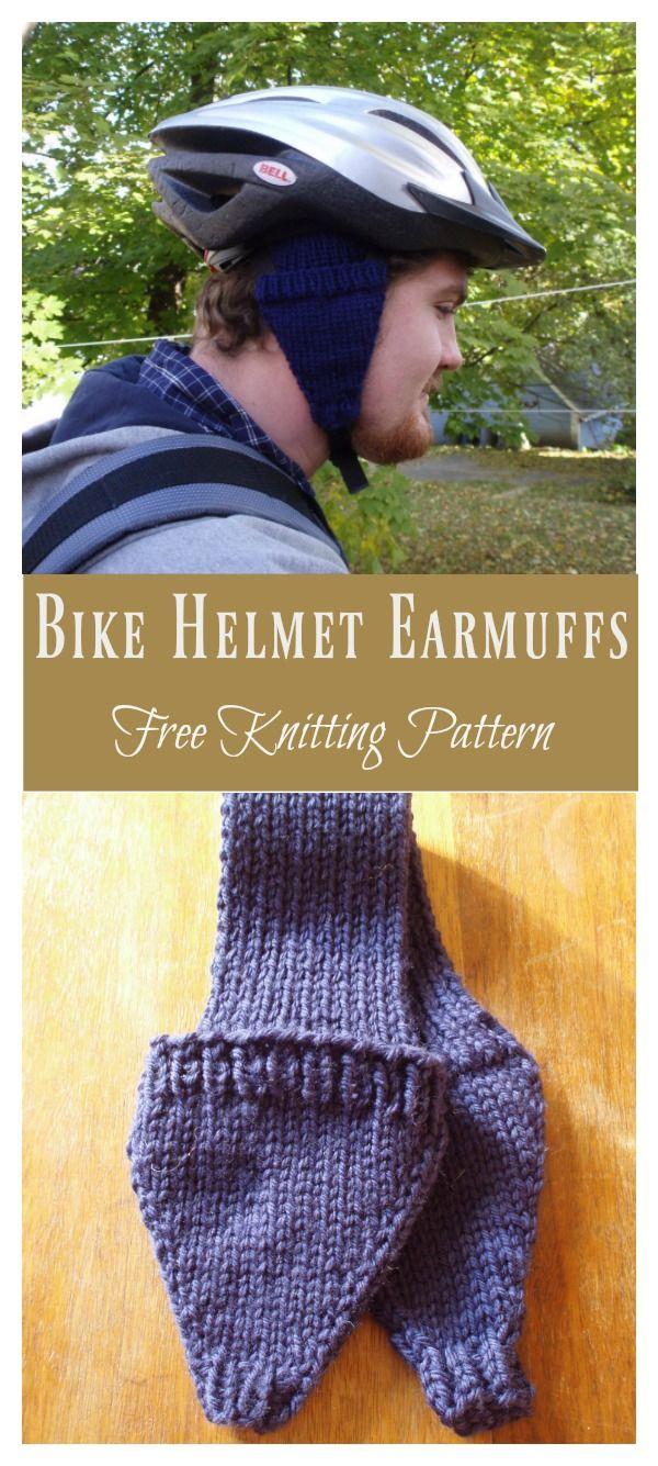 Bike Helmet Earmuffs Free Knitting Pattern   Patterns   Pinterest ...