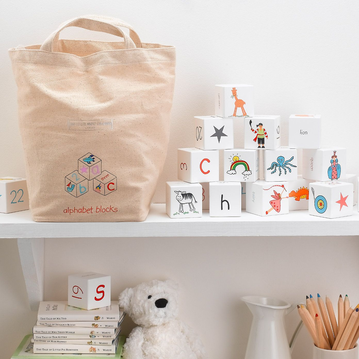 Pin By Ivana Beckett On Kids Rooms Little White Company The White Company Alphabet Blocks
