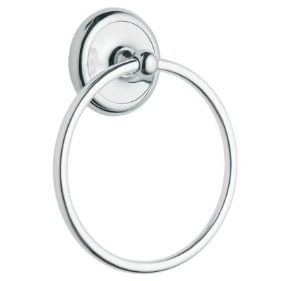 Moen Yorkshire Towel Ring In Chrome Grey Towel Rings Chrome