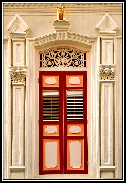 Refurbished traditional Singapore shophouse.  sc 1 st  Pinterest & Red Shutters | Shophouse Singapore and Traditional