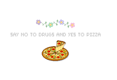 Yes To Pizza Pixel Art Pixel Pretty And Cute