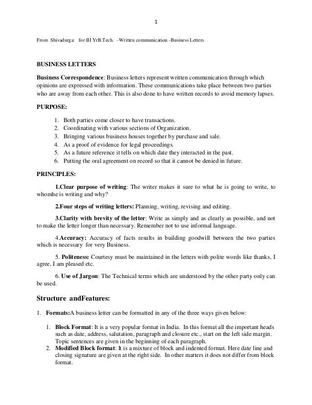 Business Letters Letter Writing Communication Skills  Home Design
