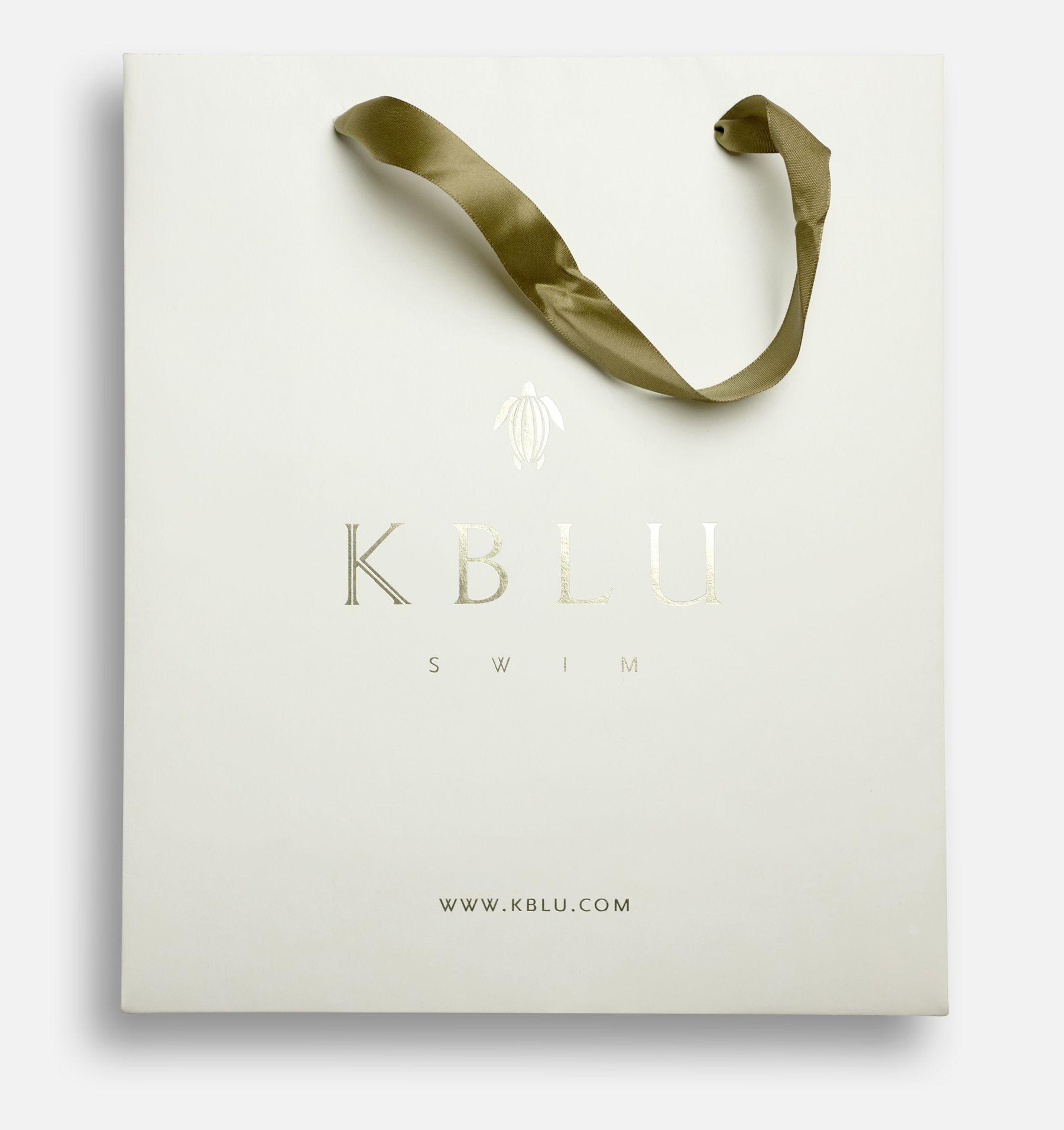 k.blu swimwear logo. branding for a sophisticated swimwear line