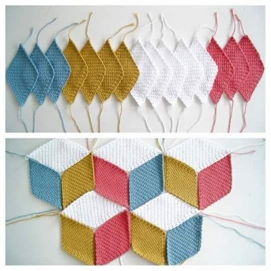 Rauten Decke | Taschen | Pinterest | Rauten, Deckchen und Decken