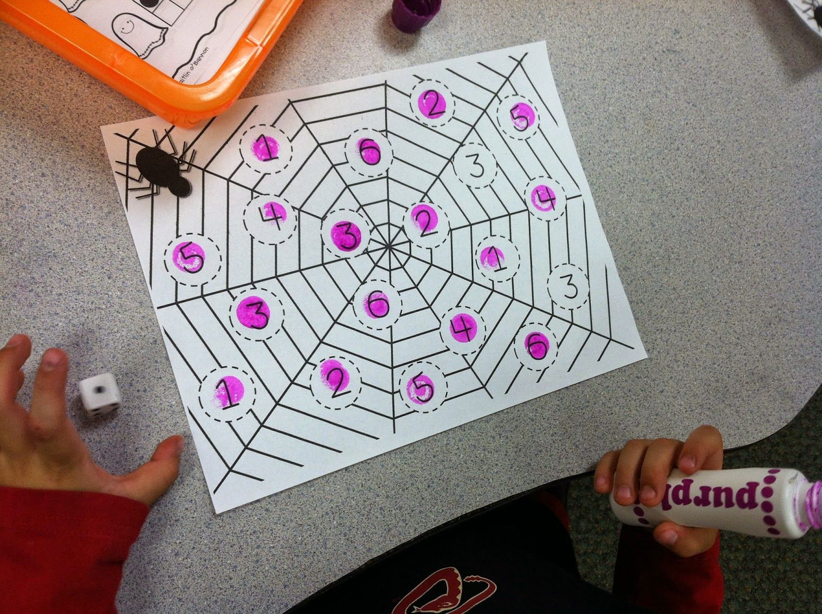 Spider Roll and Dab fast finisher math station for Halloween!   Top ...