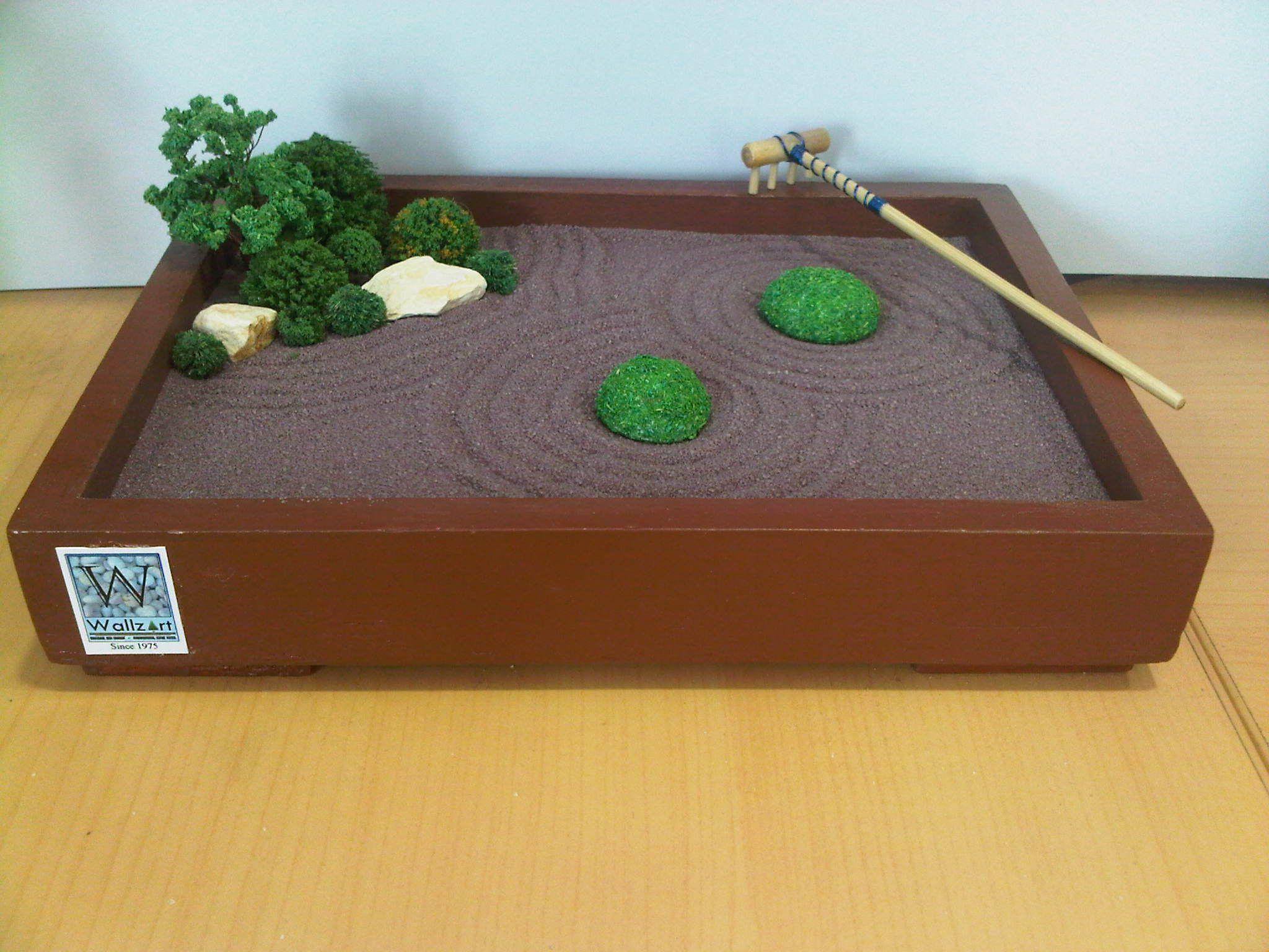 Miniature Sandbox By Wallzart Miniature Zen Garden Zen Garden Zen