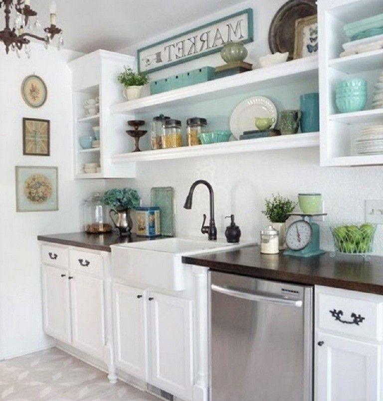 34 Beautiful Open Kitchen Shelves Ideas Kitchen Remodel Small