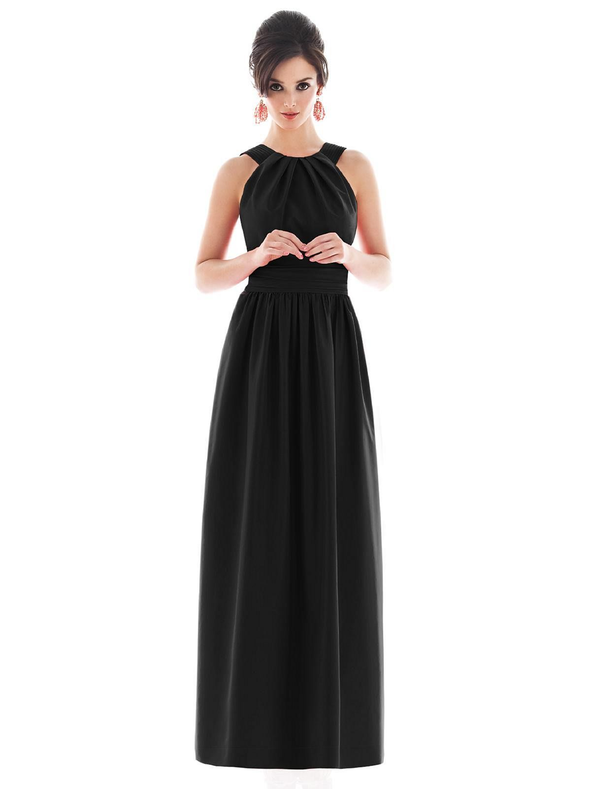 beautiful black bridesmaid dress styles for perfect wedding