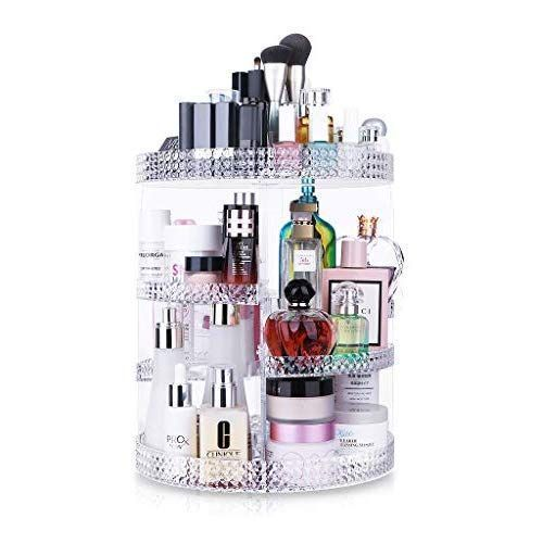 Awenia 360 ° drehbar Make-up Aufbewahrung Cosmetic Organizer aus Acryl 7 Verste…