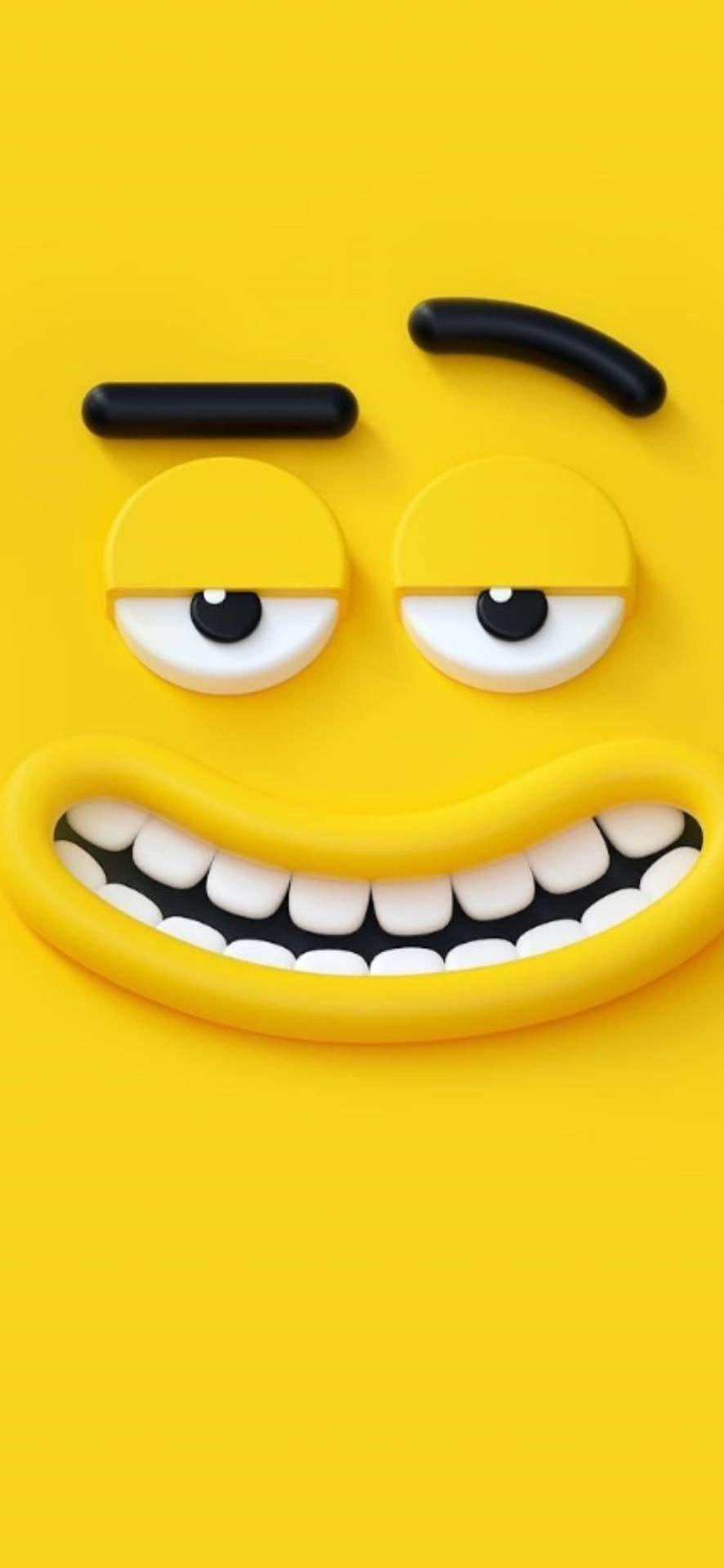 Emoji Wallpapers Emoji Fondosrosados Wallpapers Kertas Dinding Lucu Ilustrasi 3d Kuning