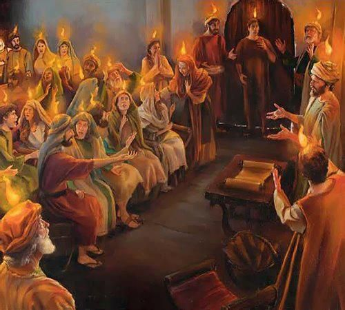 in the upper room the first 120 annointed Christians of the early ...