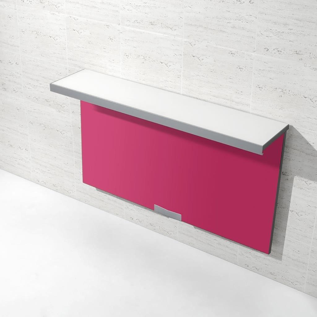 Mesa De Cocina Plegable Con Repisa En Color Blanco Modelo Wall En  ~ Mesa De Cocina Plegable Tipo Libro