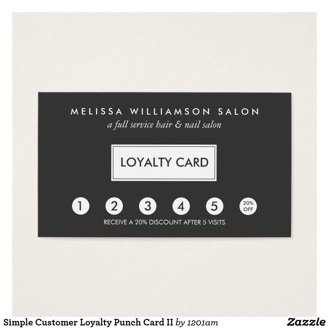 Simple Customer Loyalty Punch Card II   Business Cards: Loyalty ...