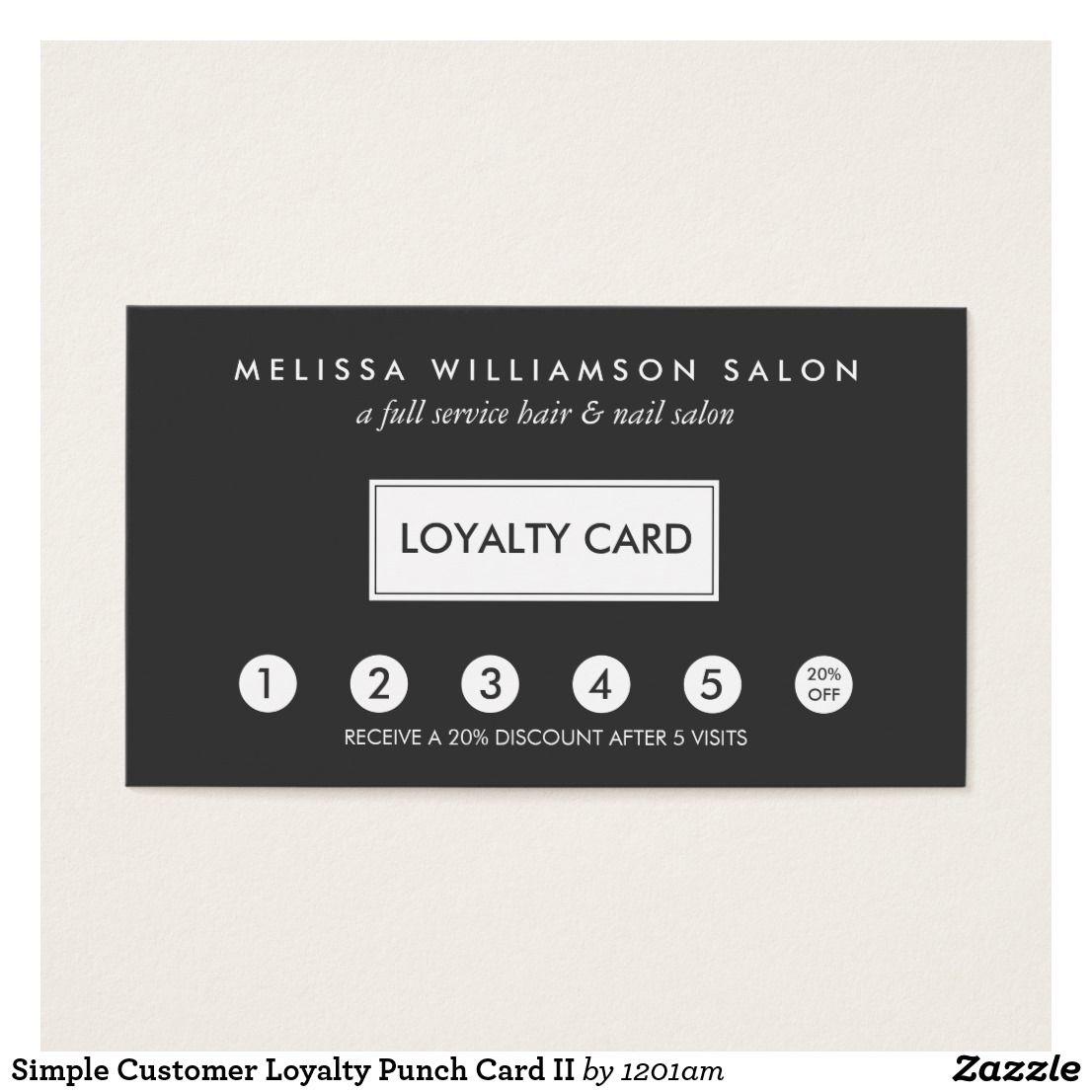 Modern Punch Cards For Business Crest - Business Card Ideas - etadam ...
