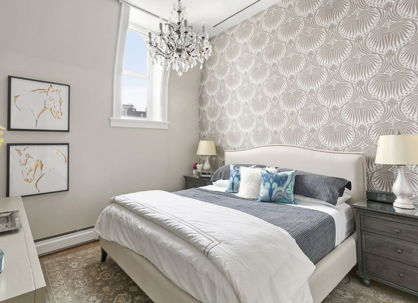 accent wall, wallpaper, bedroom (With images) | Home decor ...