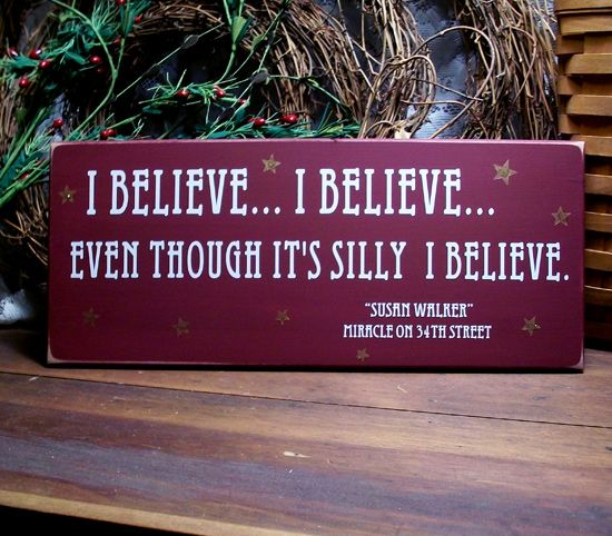 Christmas Tree Miracle Movie: I Believe ... I Believe .. Even Though It's Silly I