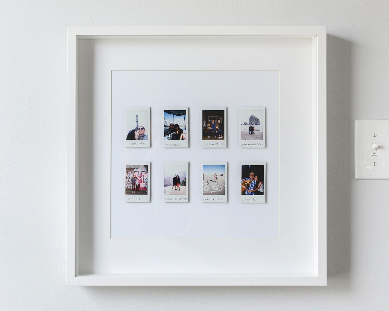 A fun and easy instant photo display our yellow brick home fotos fotowand deko - Polaroid fotos deko ...