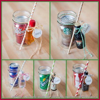 Mason Jar Cocktail Gifts   Cocktail gifts, Mason jar cocktails, Diy gifts