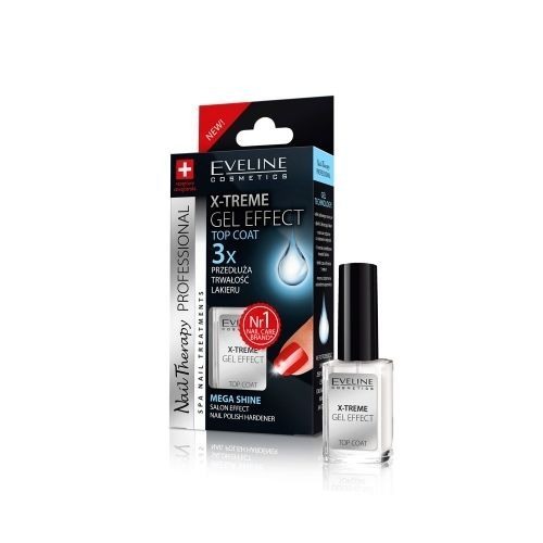 Professional Nail Hardener: Eveline X-treme Gel Effect Top Coat Nail Polish Hardener