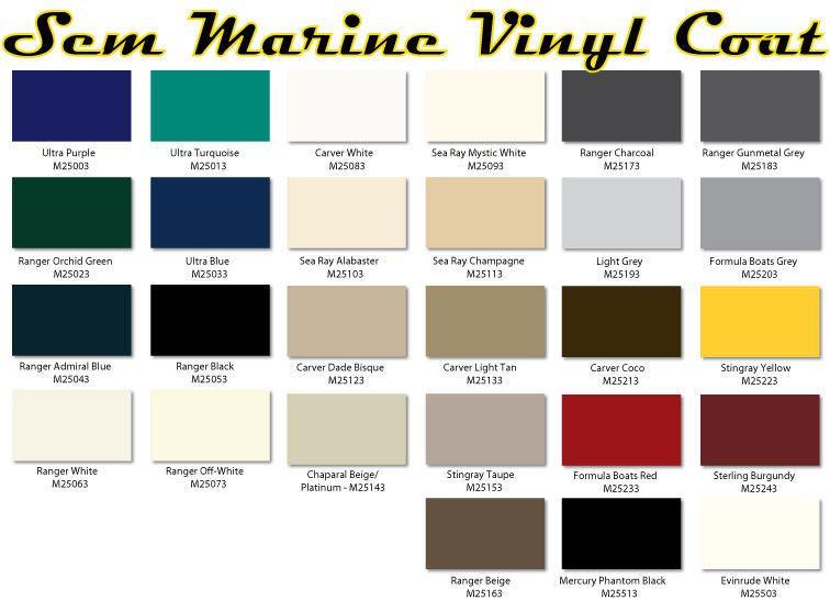 Sem Marine Material Dye Sem Marine Vinyl Coat Changes Or Renews