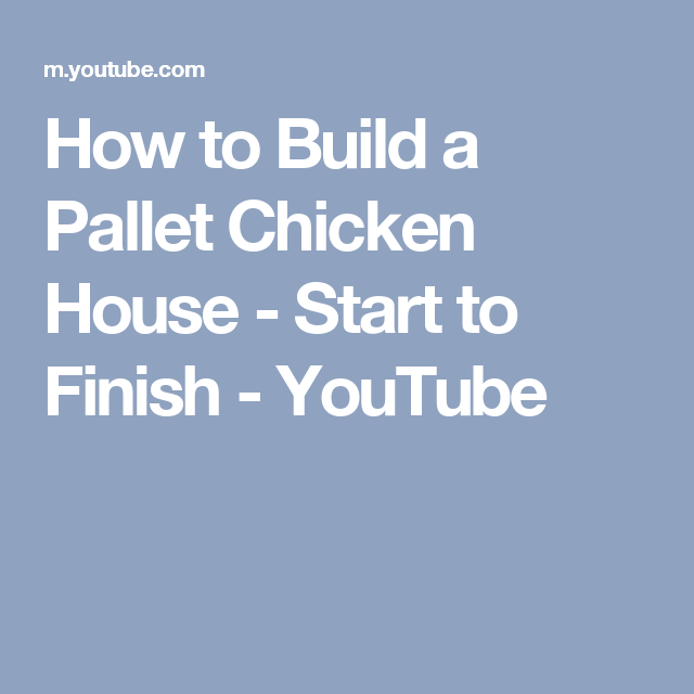 How to Build a Pallet Chicken House Start to Finish