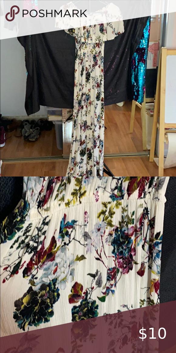 Off Shoulder Maxi Summer Dress