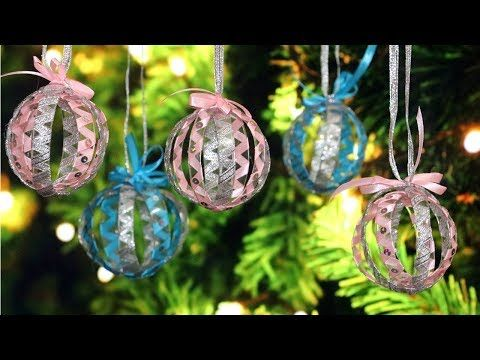 Diy Christmas Tree Ornaments Christmas Decorations From Plastic