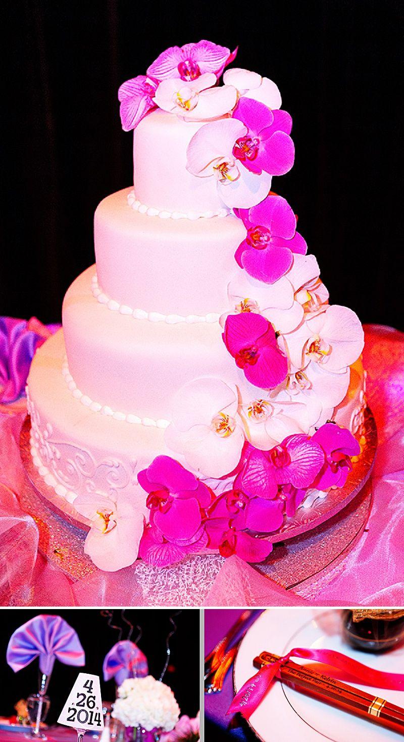 Thai chinese fusion wedding maryland orchid cake chopsticks | Dream ...