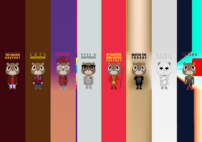 Dropout Bear Kanye West Kanye Kanye West Canvas Poster