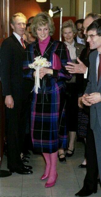 February 5, 1985: Princess Diana visited the headquarters of Dr. Barnado in Barking, Essex.