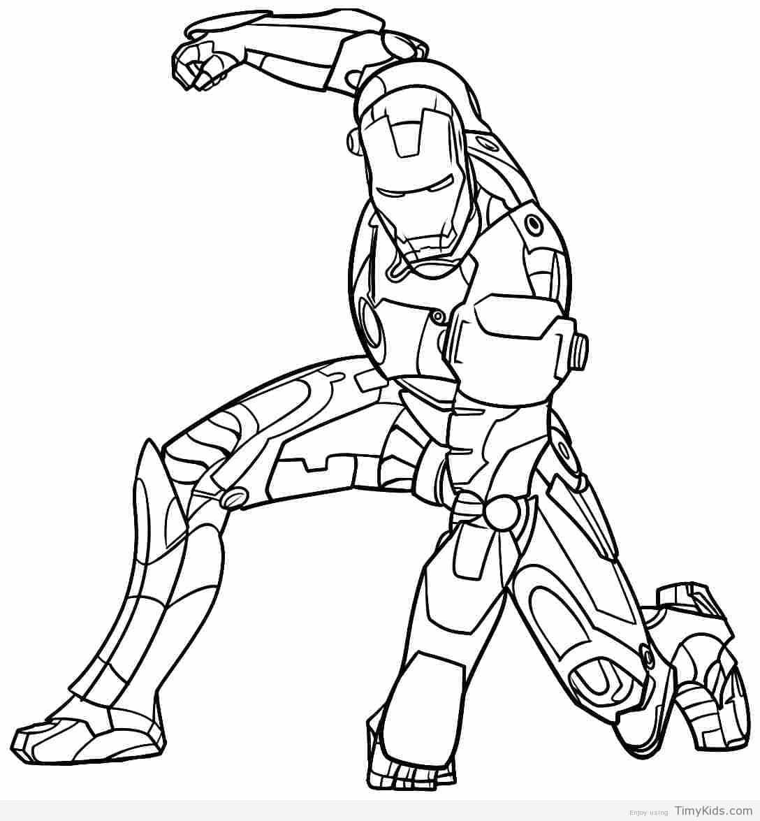 Timykids Ironman Coloring Sheet