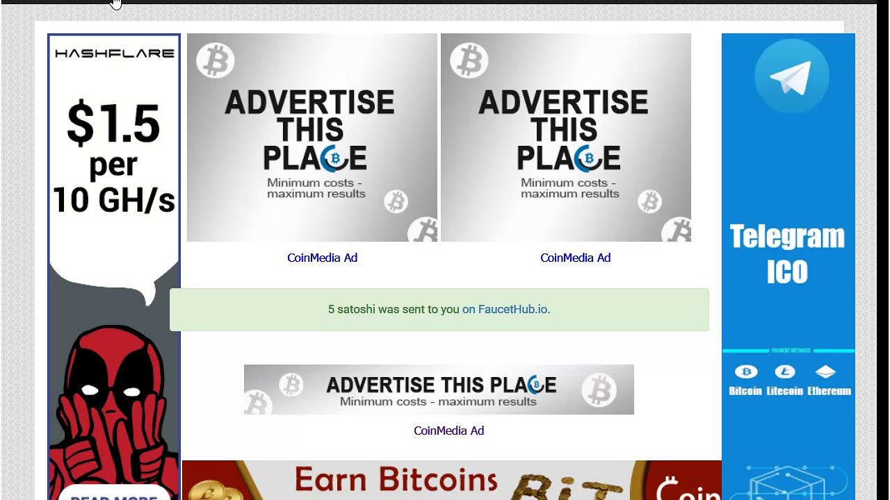 Worlds Best/Highest Paying Bitcoin Faucets! And Instant Payout (2018 ...