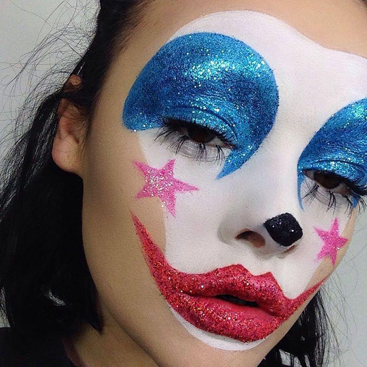 Clown Makeup in 2020 Creepy clown makeup, Fantasy makeup