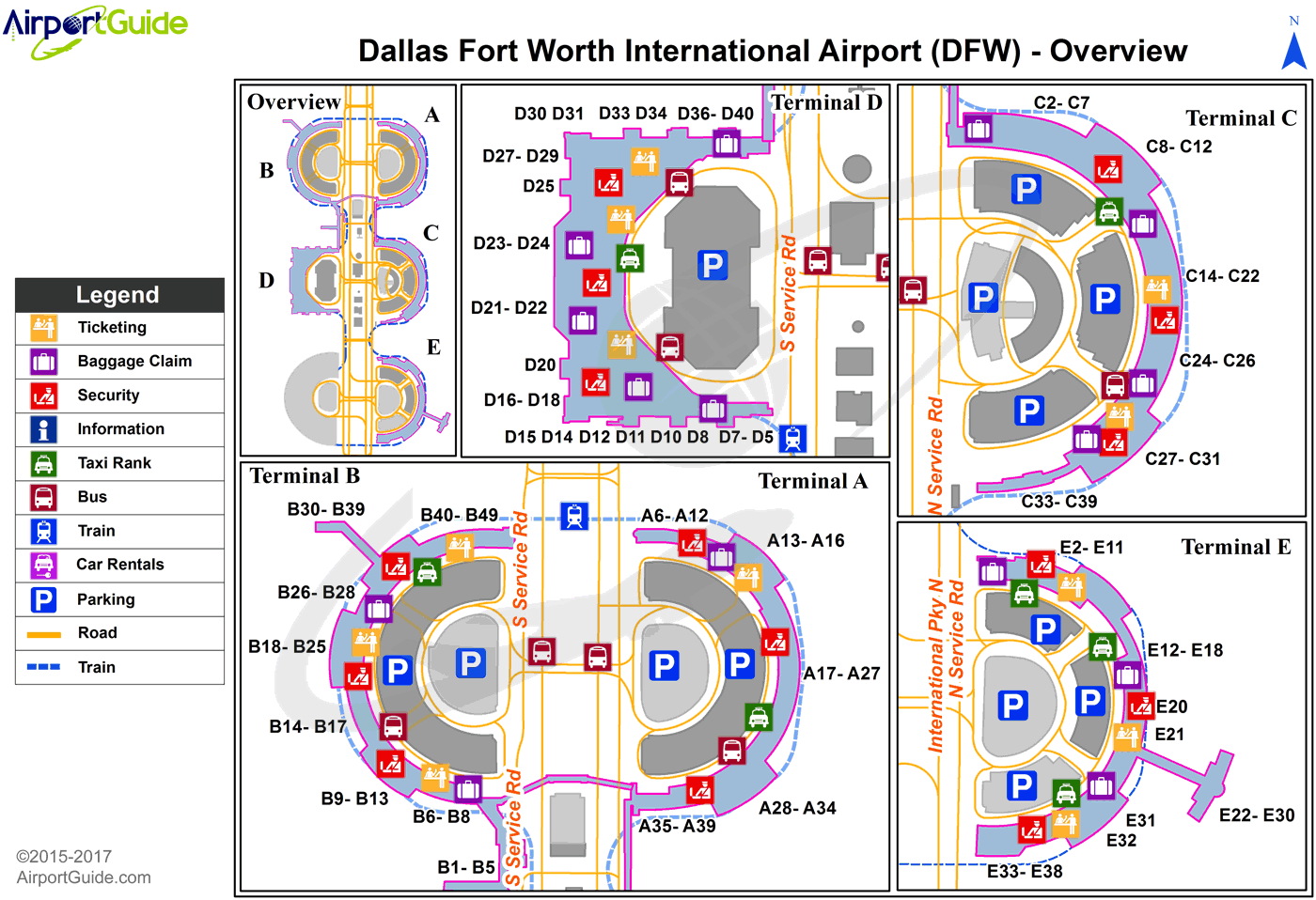Dallas Texas Airports Map Dallas Fort Worth   Dallas Fort Worth International (DFW) Airport