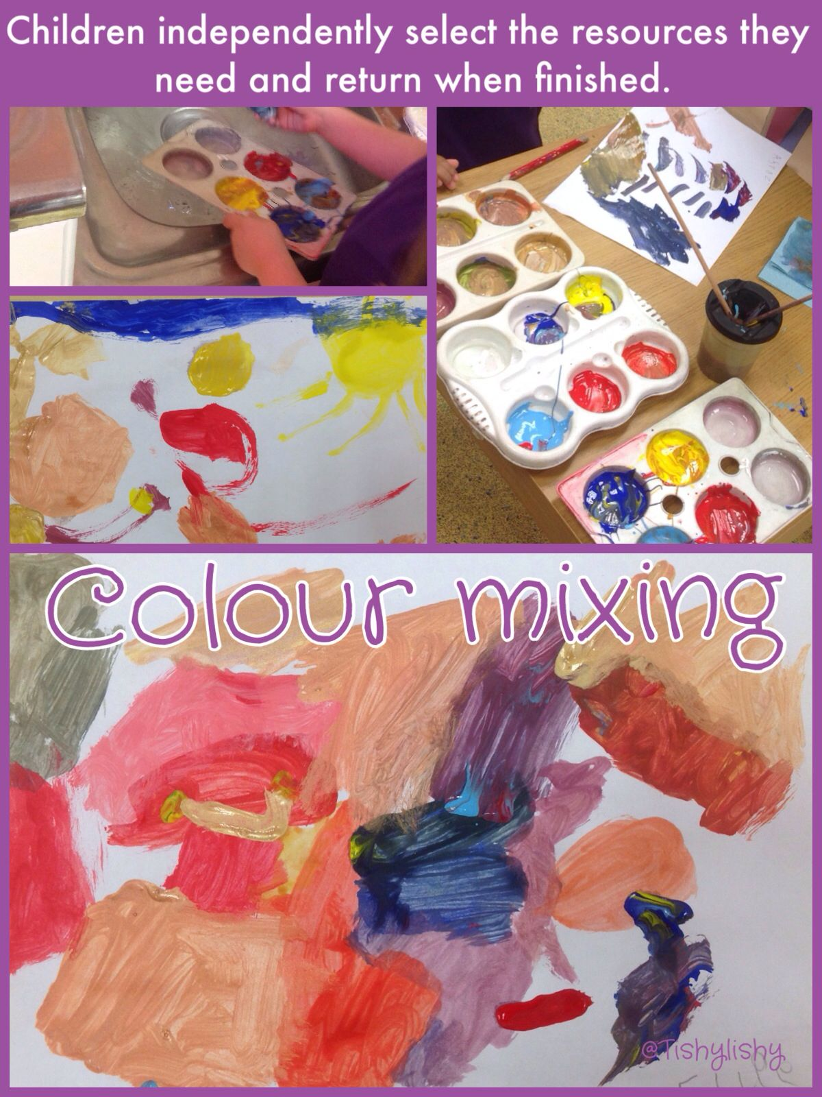 Independent Colour Mixing Children Get All The Resources They Need