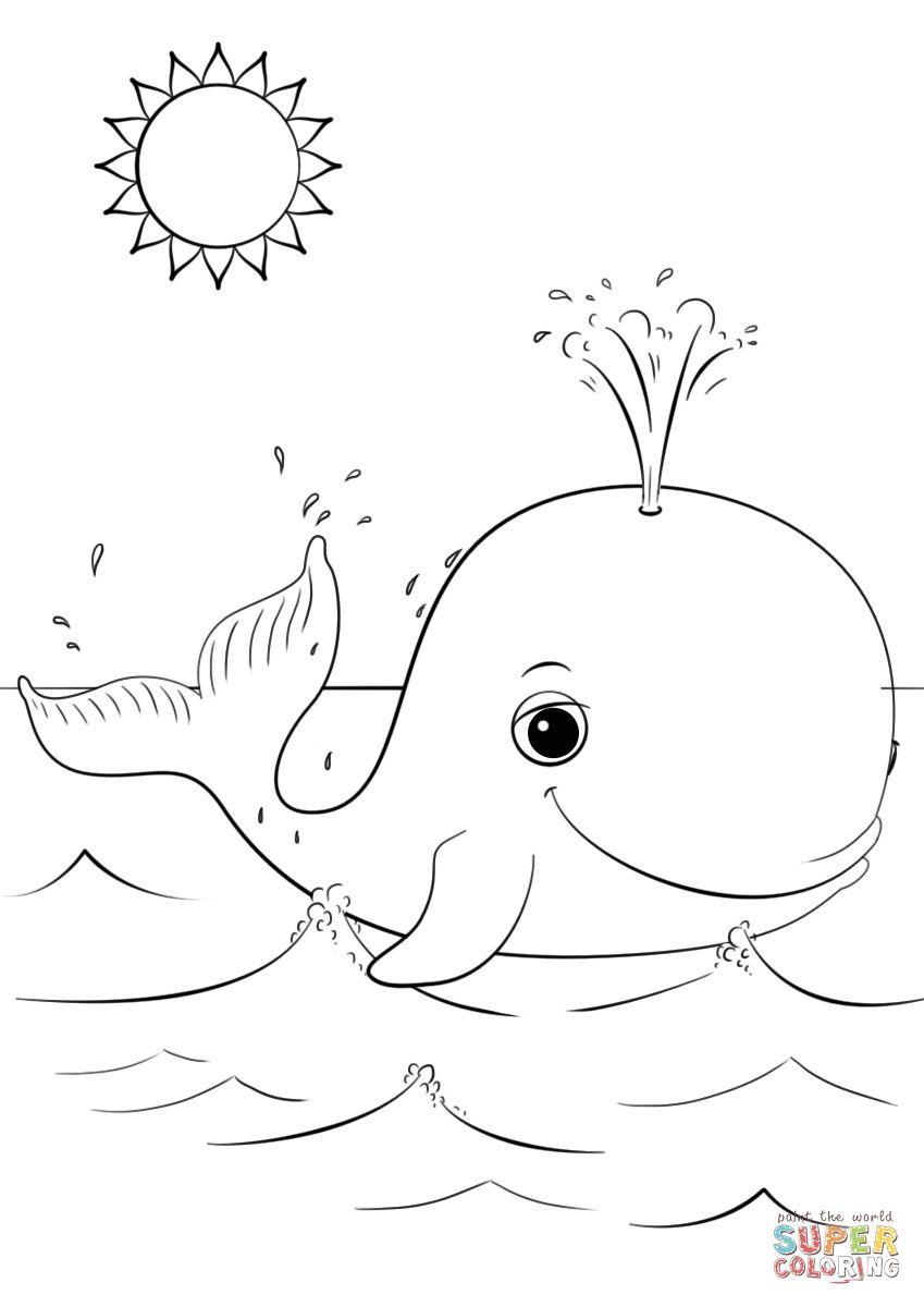 Cartoon Whale Coloring Pages Download Buku Mewarnai Gambar Hewan Lembar Mewarnai