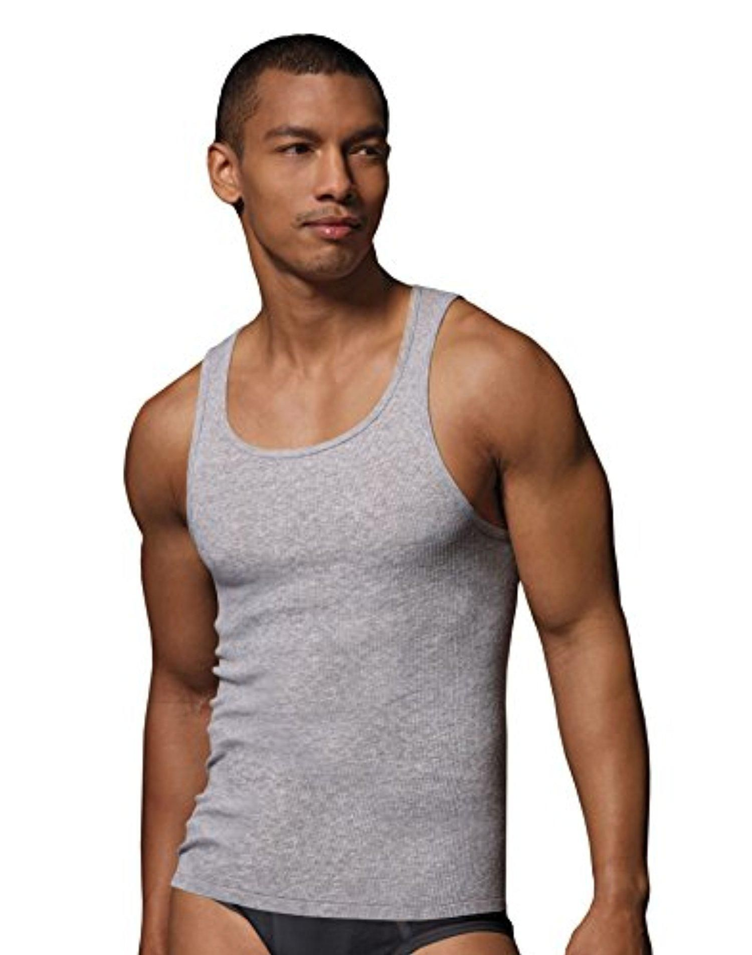 2d936b29 Hanes Men's TAGLESS® Ribbed A-Shirt 4-Pack - Brought to you by Avarsha.com
