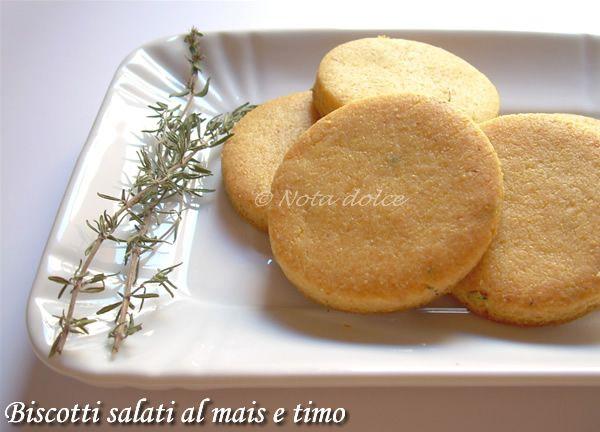 Biscotti salati al mais e timo, ricetta facile   Food ...