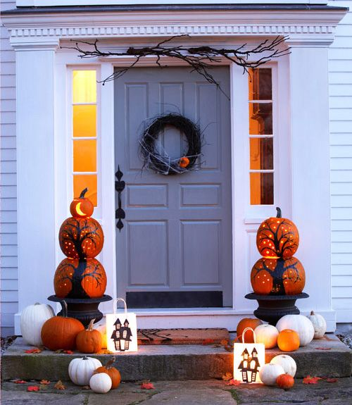 55 Enchanting Halloween Decorating Ideas & 55 Enchanting Halloween Decorating Ideas | Homemade halloween ... pezcame.com
