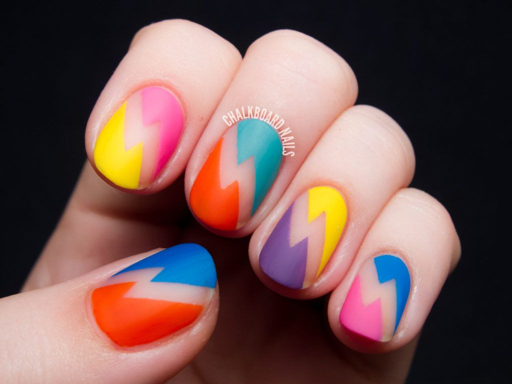 20 Negative Space Nail Looks You Need to Try - 80s Rewind | Nails ...