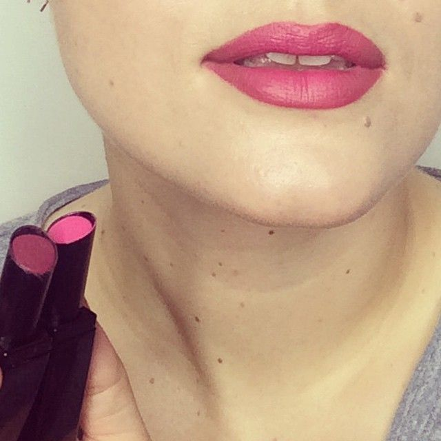 """Lippy Moisture Matte in Ruby Murray and Primrose Hill Picnic together @katiejanehughes xx"""