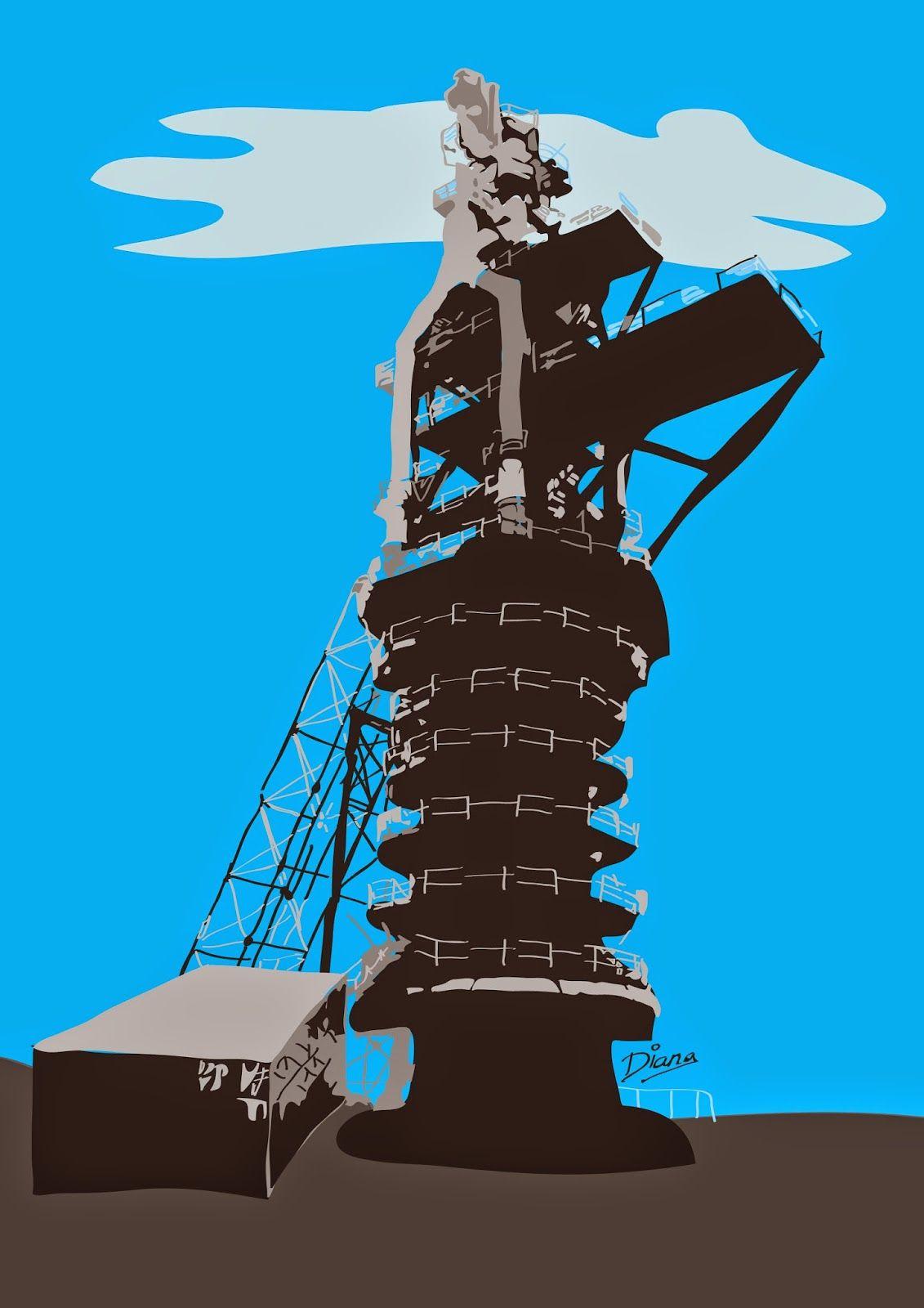 Patrimonio Industrial Arquitectónico Mis Dibujos Industriales Alto Horno Nº 2 De Puerto De Sagunto Dibujos Industrial Alto Horno