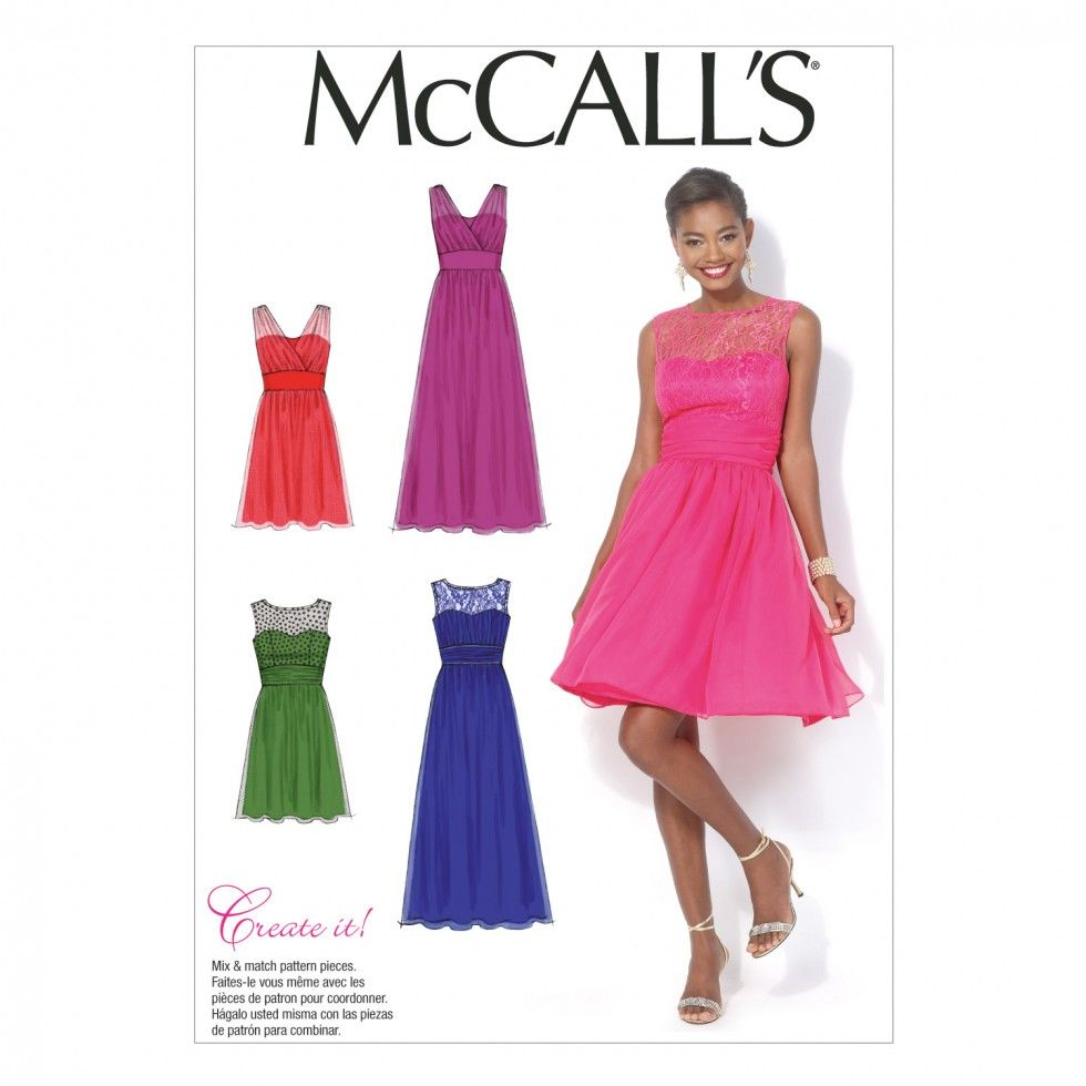 McCalls Ladies Sewing Pattern 7090 Party Dresses in 4 Styles ...