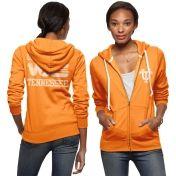 Tailgate Women's Tennessee Volunteers Light Orange Full-Zip Hoodie