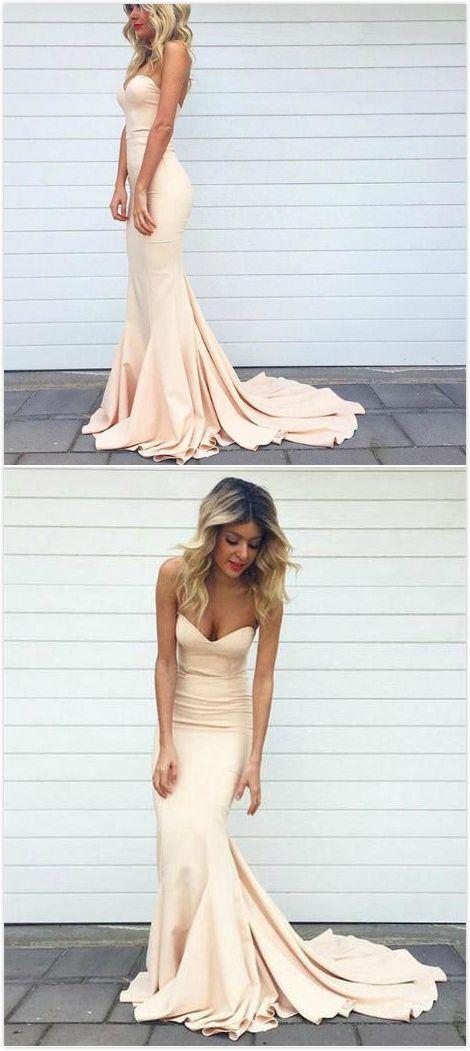 caa4687f8f3 Long Mermaid Sweetheart Sleeveless Zipper Prom Dresses 2019 For ...