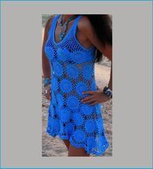 Crochet beach dress plus size pattern for women