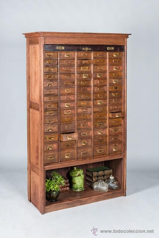 Mueble cajonera de farmacia 1930 foto 1 coleccion - Tiradores muebles antiguos ...
